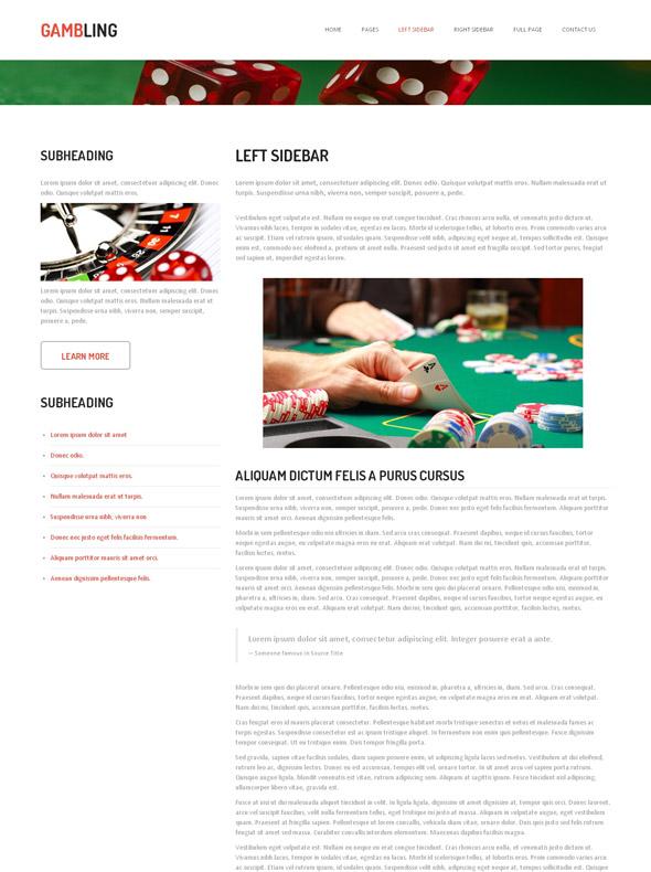 Gambling website templates free