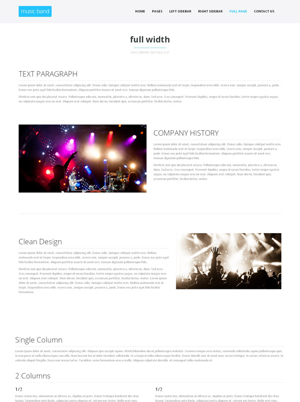 musical ensemble html template music band website templates dreamtemplate. Black Bedroom Furniture Sets. Home Design Ideas
