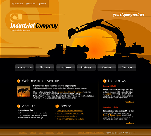 4144 industrial history website templates for Product design website