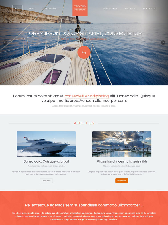 Yacht charter html template yachting sports for Non profit charter template