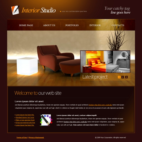 5996 interior furniture website templates Interior decorating websites