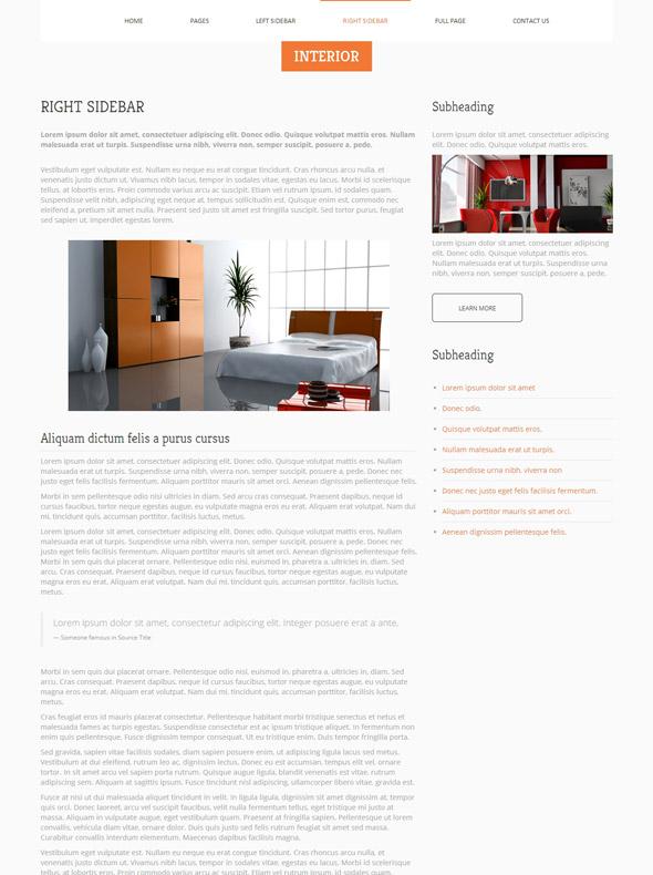 Interior furniture website template interior furniture for Interior furniture website