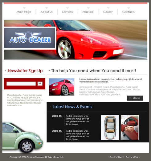 auto dealer css template 3527 cars transportation website templates dreamtemplate. Black Bedroom Furniture Sets. Home Design Ideas