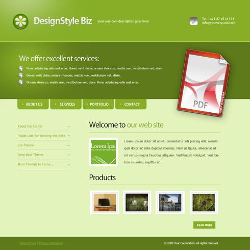 template 4447 clean corporate website templates