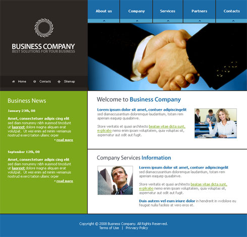Communications webpage template 3156 business website templates dreamtemplate - Asp net home page design ...