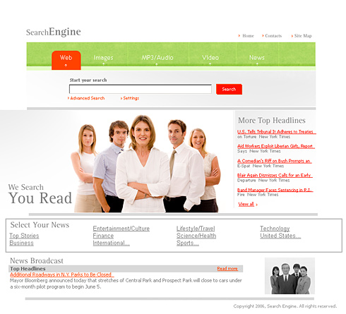 search engine html template 0986 business website templates dreamtemplate. Black Bedroom Furniture Sets. Home Design Ideas