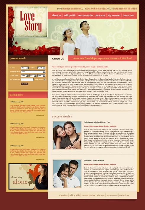love story website template - 5675