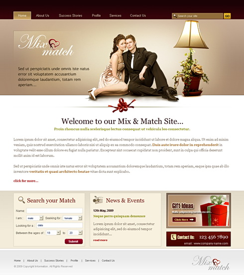 matchmaking website templates Your website get started on your dream website or finesse the current one you have worksheets and templates to take your matchmaking business to the next level.