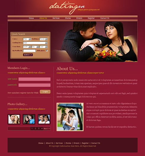 dating website css template Dating templates – design your dating agency website are you a matchmaker at heart and want to use the power of the internet to bring people together.
