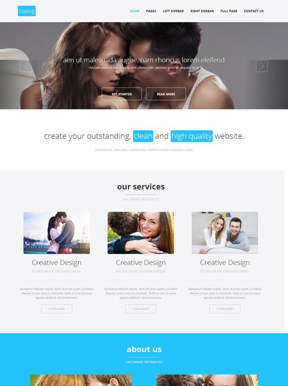 dating html template love dating website templates dreamtemplate. Black Bedroom Furniture Sets. Home Design Ideas
