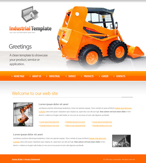 Free Website Templates For Machinery - Cover Letter Templates