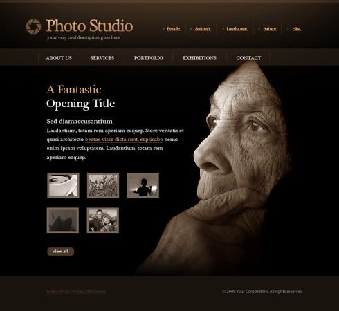 Photo slides website template 5498 art photography for Art and photography websites
