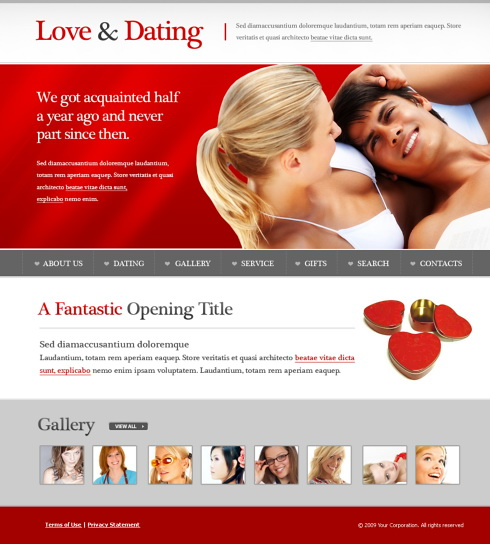 Dating site settle for love